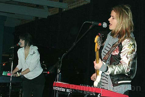 Camila Grey (left) and Leisha Hailey brought the joy of '80s synth-pop to their SOhO show the day before Thanksgiving.