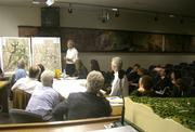 Architect David Van Hoy presents Westmont's expansion plans to the MBAR.