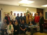 Jonathan Winters and friends celebrate his award from the Wildland Firefighters Foundation.