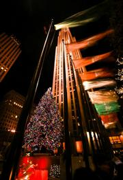 Rockefeller Center: a focal point in a Christmas shopping mecca.