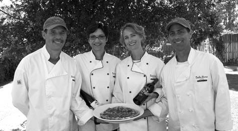 From left: Bello Forno owners Bob and Kirsten Spallino and Diana and Roger Strasbaugh.