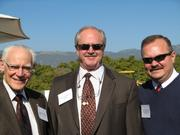 Developer Michael Towbes, Goleta Mayor Michael Bennett, and the City of Goleta's Redevelopment Agency director Vito Adomaitas.