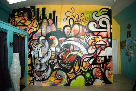 Jake Vantiger and Joe Beraldo's mural at Blackbird.
