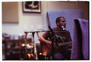 Jack Johnson in the studio.