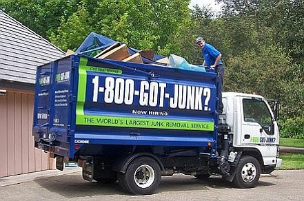 1-800-Got Junk? truck team member Justin Hardy