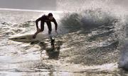 The Rabbi enjoys a few waves at Rincon.