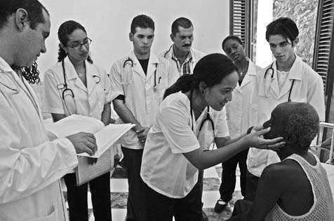 Doctors in training at Cuba's Latin American Medical School in Havana are shown in <em>Â¡Salud!</em>, which screens at UCSB's Campbell Hall on Monday.
