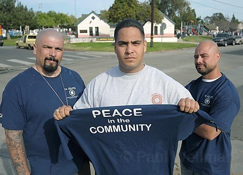 Michael Valdez, Juan Carlos Ramirez, and Efran Reynozo are working on solutions to gang violence in Santa Barbara.