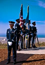 The Vandenberg Color Guard.