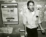 Journalist Jeff Gordinier, pictured here at Toe's Tavern way back when, began covering pop culture as a writer for the <em>Santa Barbara News-Press</em> in the early 1990s.