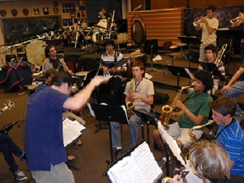 SBHS Jazz band in rehearsal.