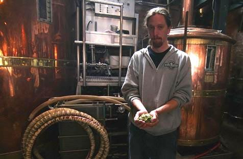 Santa Barbara Brewing Company's Tim McCarthy fears the hops shortage will impact his ability to produce his Crybaby IPA.