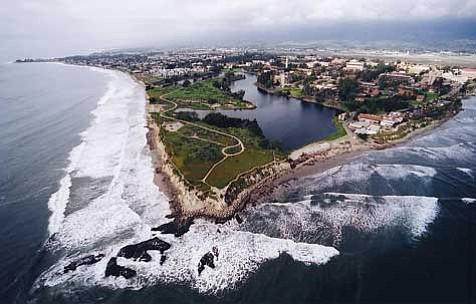 Aerial view of UCSB
