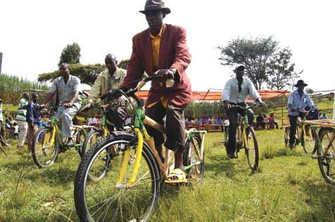 Project Rwanda, a nonprofit dedicated to implementing the bicycle as a development tool, has helped distribute 1,000 bikes to coffee farmers, giving them a means to pedal out of poverty.
