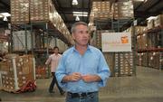 Thomas Tighe at the DRI warehouse in Goleta