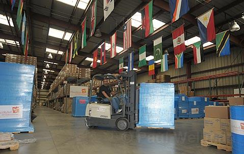 Direct Relief International shipped out 3757 lbs.of medical supplies to Myanmar on Monday.