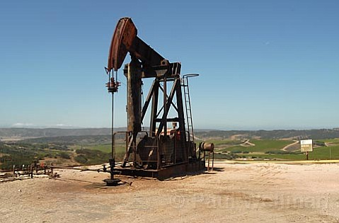 Should barrels of crude oil, like those pumped daily from this derrick near Orcutt, become subject to a Santa Barbara County severance tax in the years to come? It could mean millions of dollars in annual revenue for the county.
