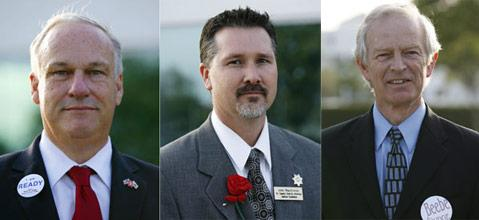 From left to right - Kevin Ready, John Mckinnon and Jed Beebe
