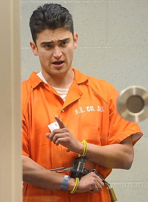 Phillip Kenneth Matovich at his arraignment in Santa Barbara Superior Court