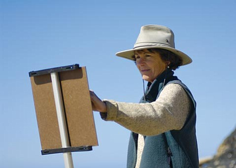 Artist lost: Glenna Hartmann remained down to earth despite her many accomplishments and honors as an artist.