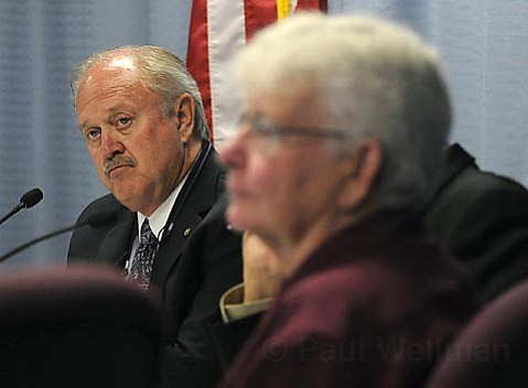 OFF THE BALLOT: Goleta Mayor Michael Bennett (left) and Councilmember Jonny Wallis were among those who chose to pull a long-discussed city tax from the July 1 meeting agenda.