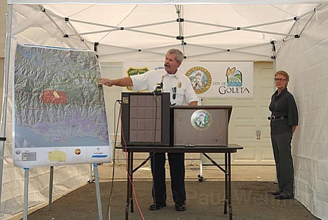 Fire Chief Tom Franklin at a press conference Thursday July 3rd
