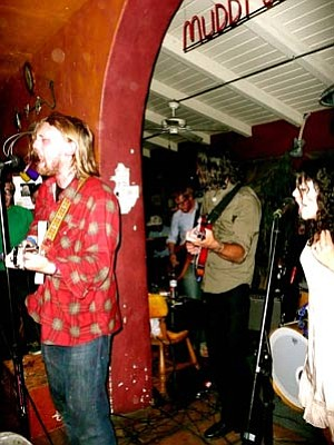 Oakland dwellers Port O'Brien brought their lush arrangements to a packed crowd at Muddy Waters last Wednesday night.