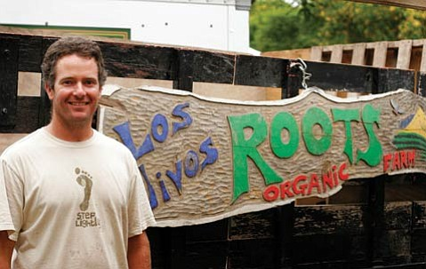 Jacob Grant of Los Olivos Roots Organic Farm.