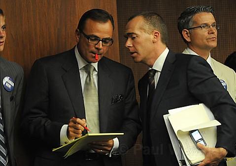 Rick Caruso (left) and Matt Middlebrook