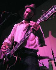 Tennessee rockers Lucero (fronted by Ben Nichols, pictured) played to an eager and rowdy crowd at Stateside last Friday night.