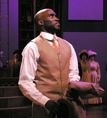 David St. Louis stars as Coalhouse Walker Jr. in PCPA's production of the musical Ragtime.