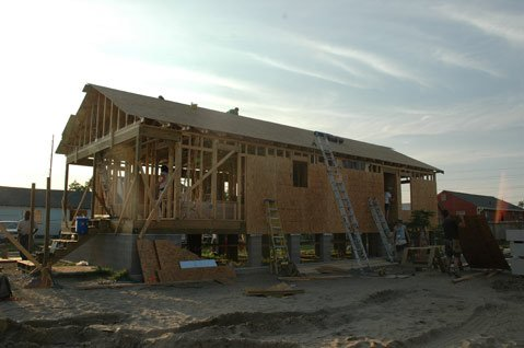 A Habitat for Humanity home nears completion in New Orleans.