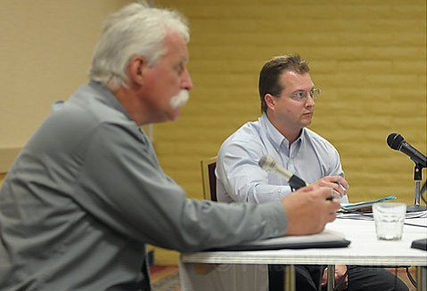 left to right: Steve Radis, Vice President of MRS, and Eric Gillies, a Project Manager for the State Lands Commission.