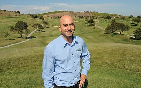 Rich Nahas: The Glen Annie Golf Course general manager stands before rolling greens that may one day have houses on them. He said he'd be disappointed to lose the course, though he said the plan looks attractive.