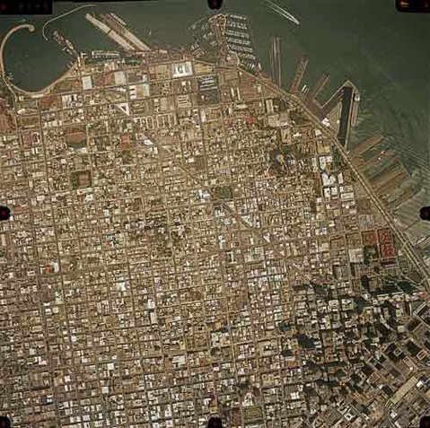 An aerial photo of San Francisco.