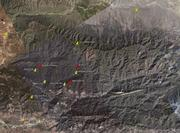 Google Map of the fire area with points added by Ray Ford.