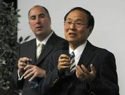Chancellor Henry Yang introduces Mark Massari as UCSB's new director of intercollegiate athletics