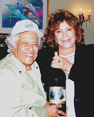 Leah Chase (left) and Iris Rideau.