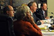 Montecito Planning Commissioners Claire Gottsdanker, Jack Overall, Bob Biereg, and Michael Phillips.
