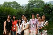 Satie Airame (left) with graduate students from Zhongkai Agricultural University and host Professor Liu Nian (center back) at the botanic garden in Guangzhou, part of China's Guangdong Province.