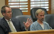 Defense attorney Jeff Chambliss and defendant Gregory Doan