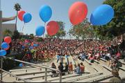 San Marcos High School outdoor amphitheater filled to celebrate former students turned Olympians