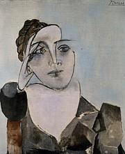 Pablo Picasso, <em>Portrait of Dora Maar</em> (Theodora Markovich), 1936. Mourlot lithograph, ed. 214/350. Santa Barbara Museum of Art, Anonymous Donor.