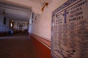The Presidio chapel has a list of 51 burials from the 1700s and 1800s on the wall.