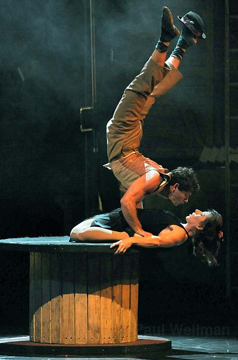 An unorthodox tango was just one of the impressive physical feats that took place in the <em>Birdhouse Factory</em>.