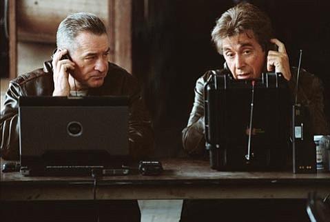 <em>Righteous Kill</em> stars Robert De Niro (Turk) and Al Pacino (Rooster) as N.Y. detectives.