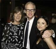 Heal the Ocean executive director Hillary Hauser poses with actress Julia Louis-Dreyfus and writer Brad Hall.