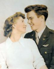 Becky and James Wheeler the year they were married, just before James flew to Europe to fight in the war. 