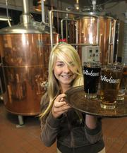 Hostess Katherine Merritt serves up the good stuff at Brewhouse, the readers' pick for Santa Barbara County's best brewery.