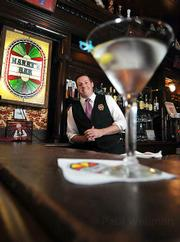 Michael has been bartending at Harry's for five years, and he knows who has the best martini.